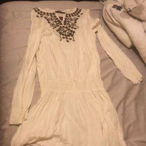 White dress with neck design